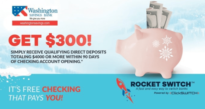 Washington Savings Bank bonus