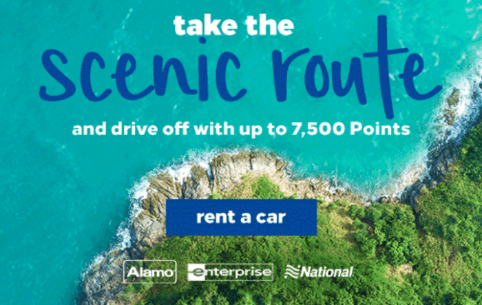 hilton points car rental