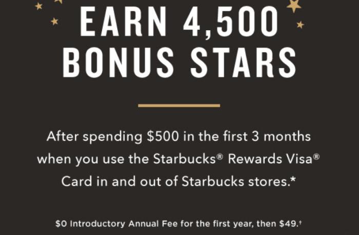 Chase Starbucks Card bonus