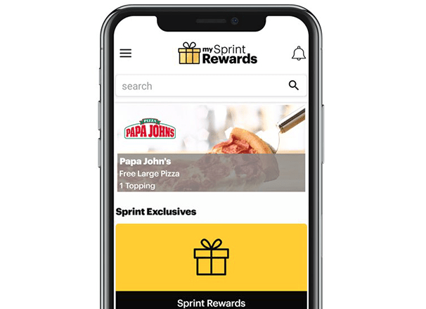 My Sprint Rewards free pizza
