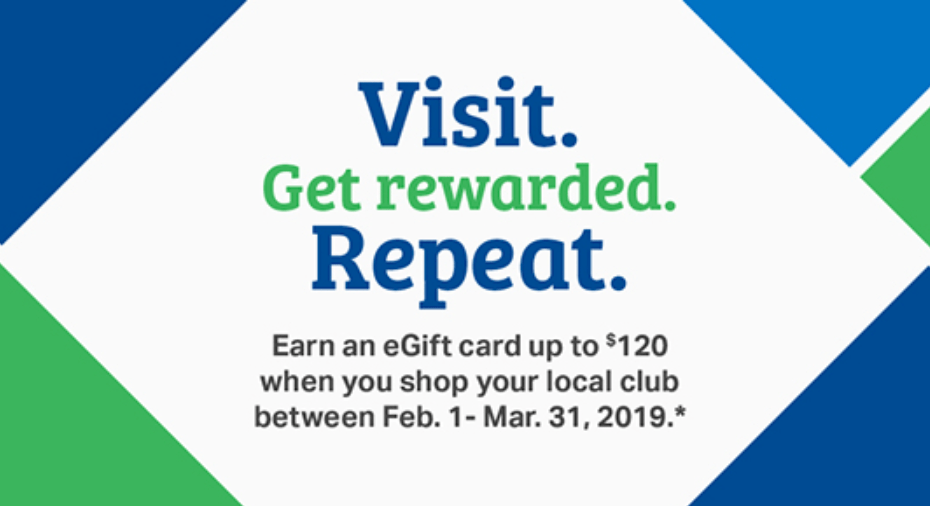 Sams Club Promotion >> Get 120 Sam S Club Gift Card With 15 Purchases Of 1 Or More Daily