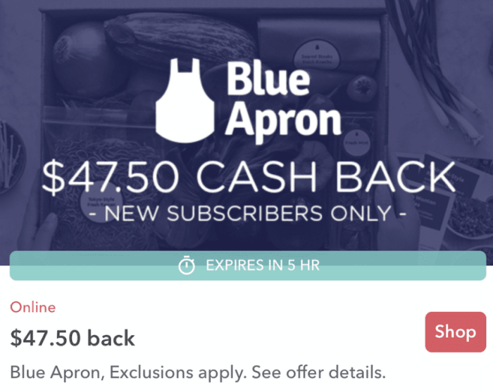 ibotta blue apron
