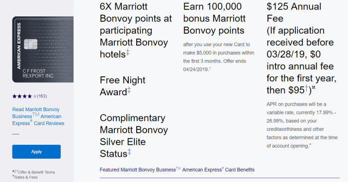 Amex Marriott Bonvoy Business Card
