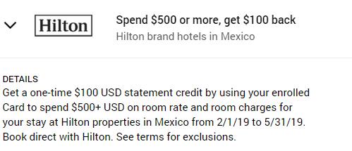 Hilton Amex Offer