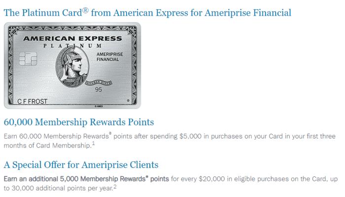 Ameriprise Amex Platinum