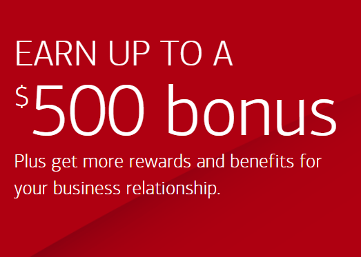 Bank of America $500 Business Bonus