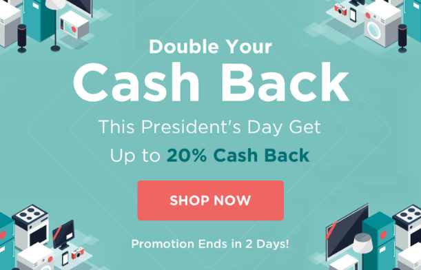 Giving Assistant Double Cashback Promo for President's Day