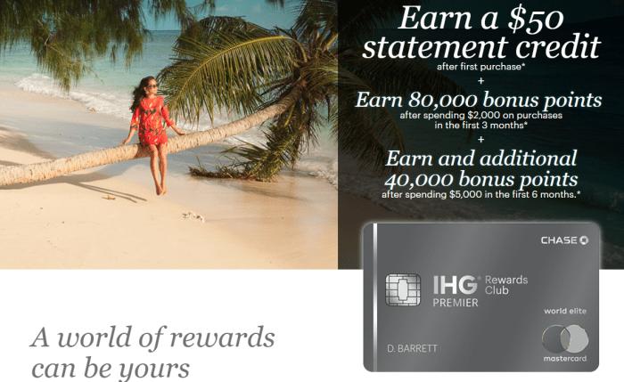 Chase IHG Rewards Club Premier 120K plus $50 bonus