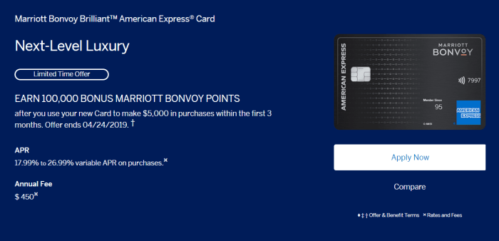 Amex Marriott Bonvoy Brilliant Card is Live with 100K ...