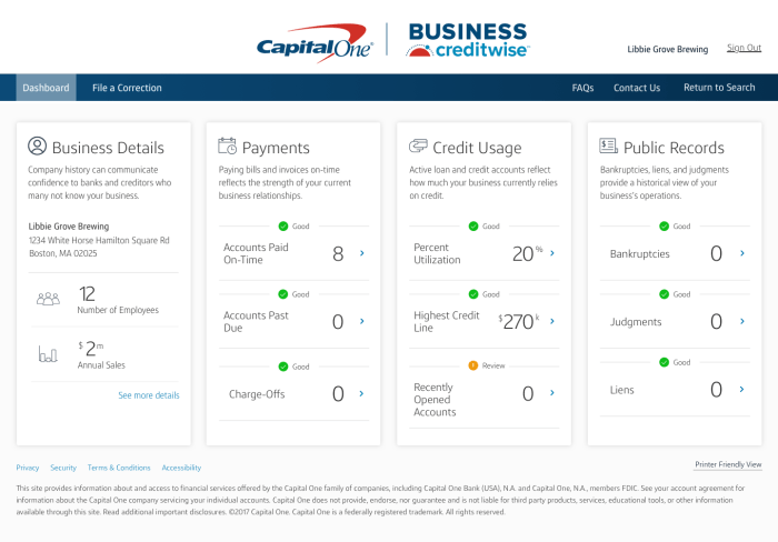 capital one Business CreditWise