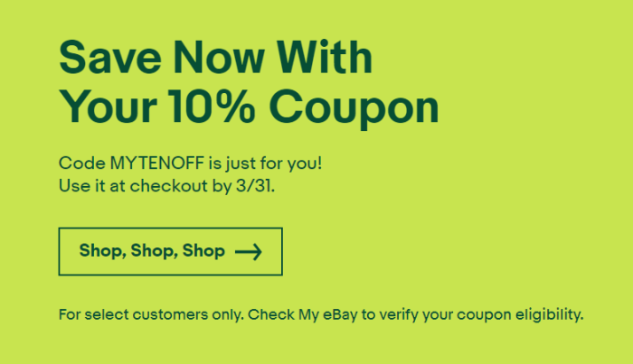 ebay discount coupon