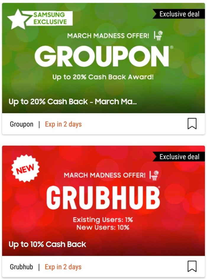 Samsung Pay: Up to 20% Back at Groupon, 10% at Grubhub - Danny the