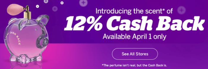 rakuten 12% cash back