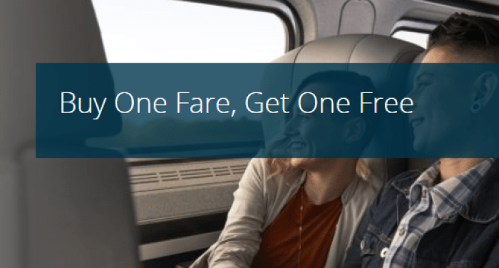 amtrak bogo sale