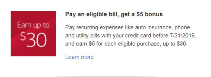 bank of america pay bill bonus