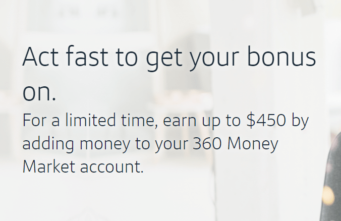 Capital One 360, $450 Bonus for Existing Money Market Accounts