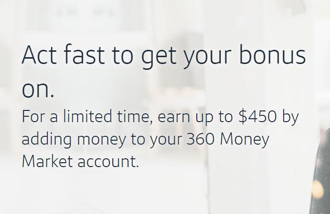 Capital One 360, $450 Bonus for Existing Money Market Accounts