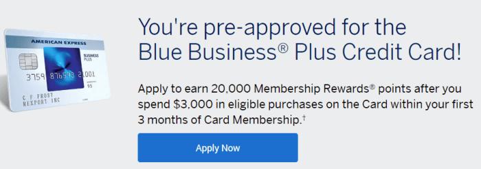 Amex Blue Business Plus 20K