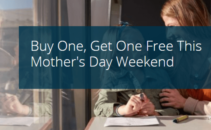 Amtrak Mother's Day Sale
