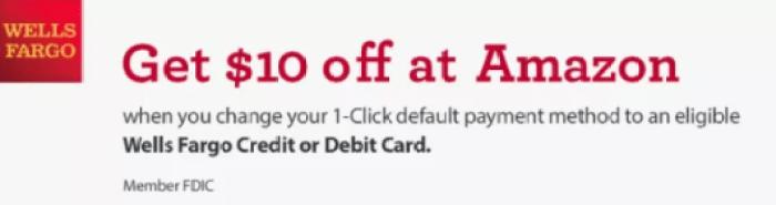 amazon wells fargo $10 bonus