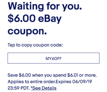 Save with eBay promo codes and offers for August 12222