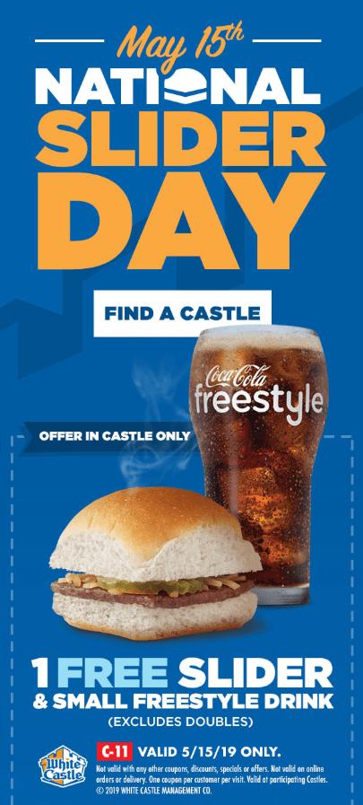 White Castle Free Slider