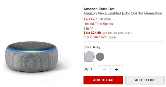 echo dot deals