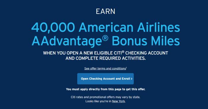 citi 40k american airlines bonus
