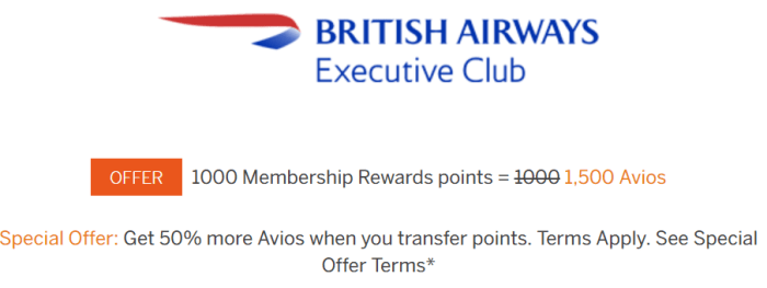 amex avios transfer bonus