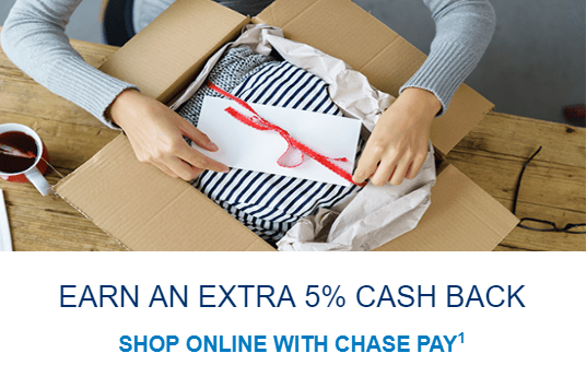 Chase pay 5% walmart