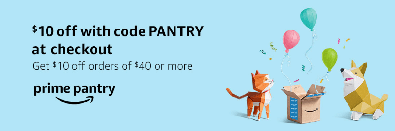 Amazon Prime Pantry, $10 Off $40 and Free Shipping - Danny