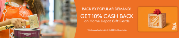 10% Off Home Depot Gift Cards