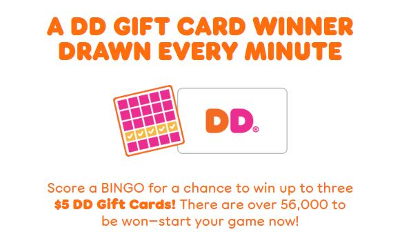 dunkin bingo