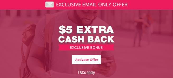 topcashback extra $5