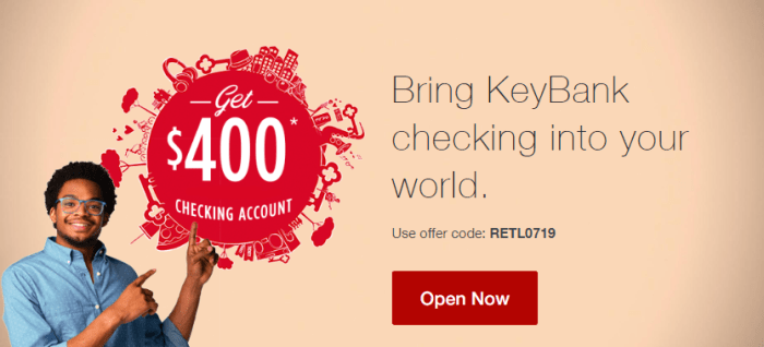 KeyBank $400 Checking Bonus