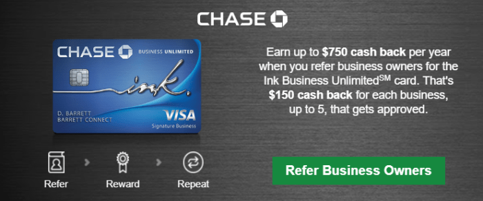 Referral Bonus for Chase Ink Business Unlimited