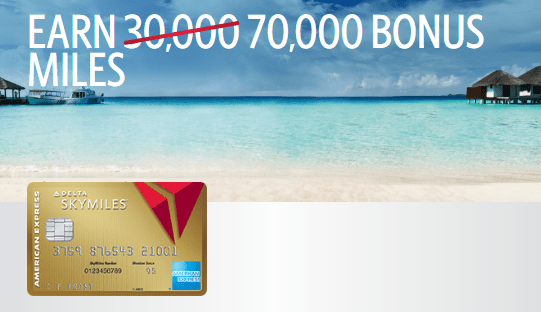 Delta Amex Login >> New Targeted Offer For Amex Delta Gold 70k Miles 50 No