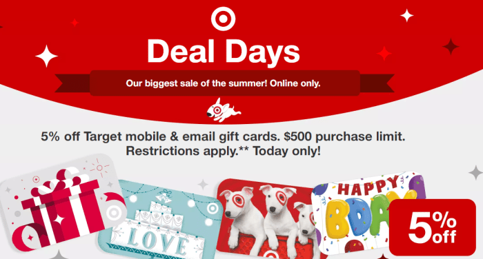 5% Off Target Gift Cards