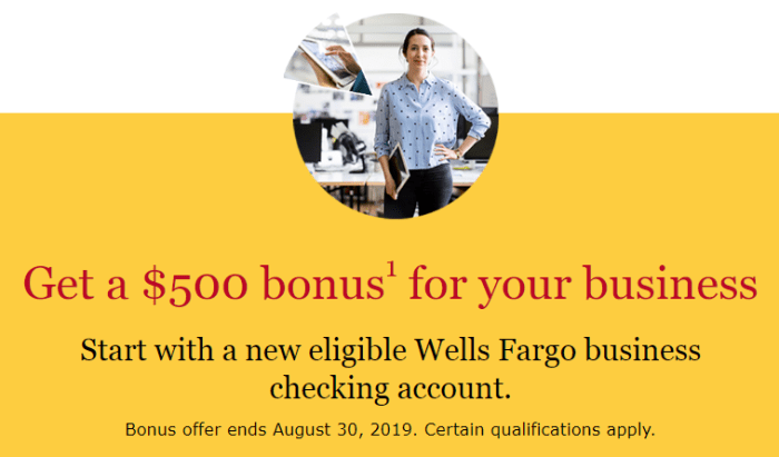 wells fargo $500 business checking bonus