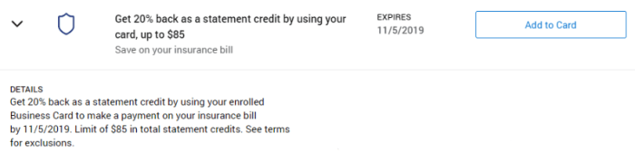 Insurance Amex Offer