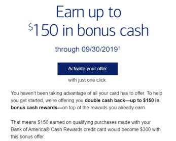 Cash Rewards Card double cashback