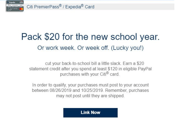 Citicards Pay Bill >> Spend 120 With Citi Cards And Paypal Get 20 Credit