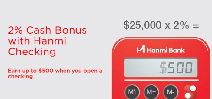 Hanmi Bank Bonus