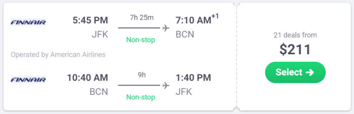 airfare deal europe