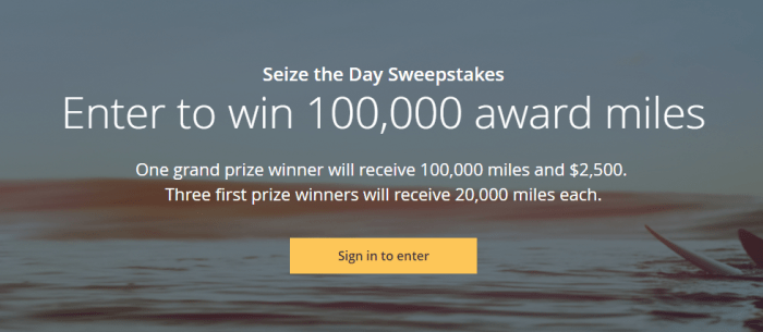 United 100K Miles Sweepstakes