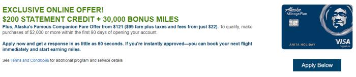 Alaska Airlines Card Bonus