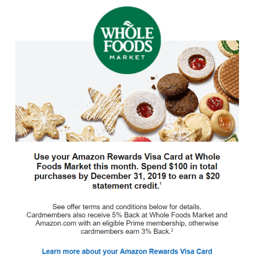 $20 Off $100 At Whole Foods With Chase Amazon Card
