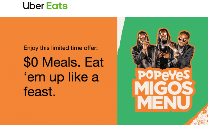 Free Meals from Popeye's
