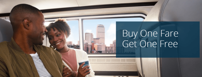 Amtrak Valentine's BOGO Deal