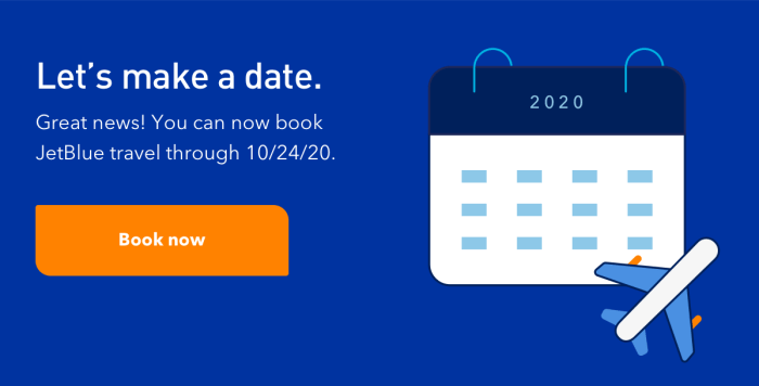 JetBlue Schedule Extended Through October 2020